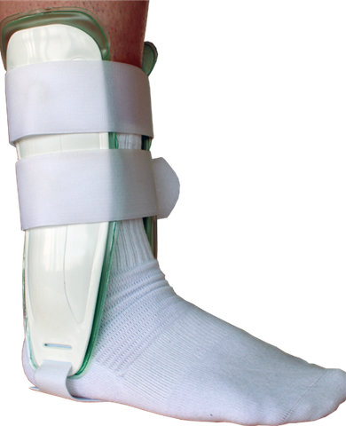 Plastic ankle stirrup gel or air