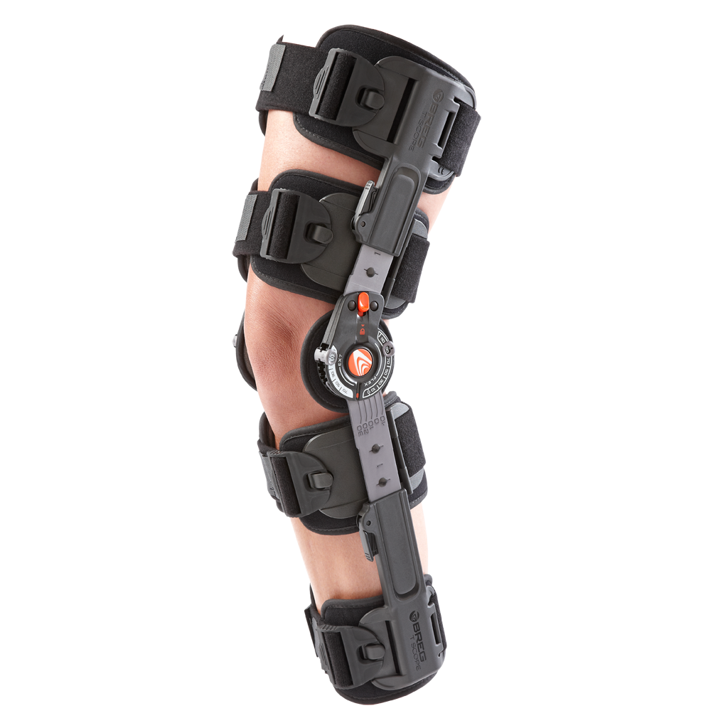 Hing knee braces with adjustable angle