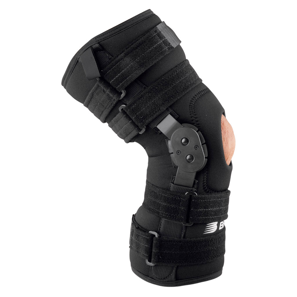 Adjustable hinged knee brace