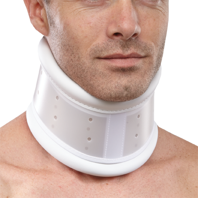 Rigid plastic collar